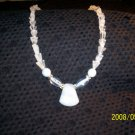 Moonstone and Clear Quartz Necklace