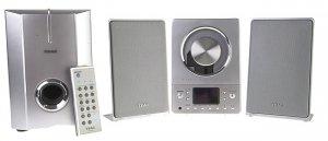 Teac CD-X8 Ultra-Thin Hi-Fi System NX - Powered Subwoofer