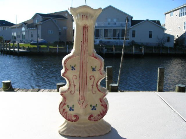 Vintage Ceramic Cello Wall Vase
