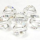 12 SWAROVSKI 5004 RECT FACET BEADS 8MM CRYSTAL CLEAR