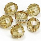 12 SWAROVSKI ELEMENTS 5004 RECT FACET CRYSTAL BEADS 8MM Light Colorado Topaz