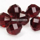 12 SWAROVSKI ELEMENTS 5004 RECT FACET CRYSTAL BEADS 8MM SIAM