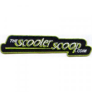 """Official """"theScooterScoop.com"""" Jacket Patch"""