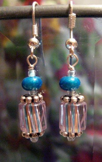 Petit Four Blue Ear Cane-dy - Earrings