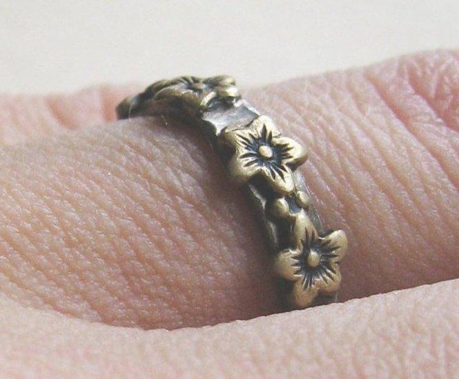 Pimpernel Blossom Ring - Sterling & Vintage Brass