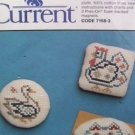 Cross stitch magnet kit Current 3 designs chicken cat duck