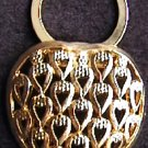 Celebrity gold tone heart shape scarf pin Valentine jewelry