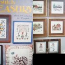 Cross stitch Treasury Coats & Clark 21 patterns booklet