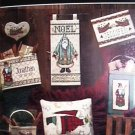 Cross stitch leaflet Country Noel Christmas patterns by Dimensions 4 designs