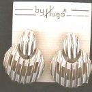 Earrings Hugo white enamel on gold metal MIP