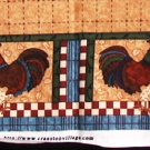 Cranston Print Works fabric rooster appliques 100% cotton