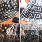 Crochet Afghans Lacy Granny leaflet Leisure Arts 480  4 designs