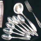 Rogers Ambassador IS silverplate gravy ladle 6 tsp fork 1847 Rogers Bros IS