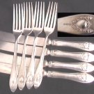 Sears silverplate SRS31 garland 4 fks 4 knives flatware silver plate