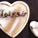Mother of pearl pin wire spells MOTHER vintage pin jewelry