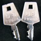 U.S. Trunk keys vintage US trunk key set