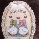 Cross Stitch kit Paragon Country Collection Sharing is Caring sealed