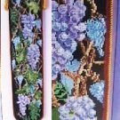 Cross stitch leaflet Bordeaux Bellpull grapes vines pattern on black bell pull