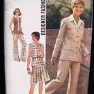 Simplicity 6236 vintage sewing pattern 1974 cardigan top skirt pants size 14 uncut