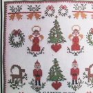 McCall's 5370 Sample of Christmas vintage pattern blue transfers for cross stitch embroidery