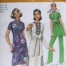 Simplicity 9256 vintage sewing pattern 1971 dress tunic pants sz 14 uncut