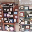 Cross Stitch patterns leaflet Short & Sweet miniature sayings #1 & 2 Leisure Arts