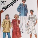 Simplicity 5320 smock dress & top 1981 sewing pattern partially cut vintage sz 14