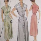 McCall vintage sewing pattern 8368 1951 women's dress size 14 Bust 32