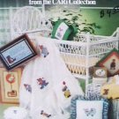 Cross stitch booklet Here I Grow baby items clown bears mice afhan +