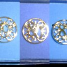 Avon award circle pins 1979 1980 1981 gold tone jewelry President's Club