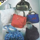Simplicity 5476 sewing pattern 1982 6 fashion hand bags + handbag embroidery transfers