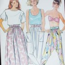 Butterick sewing pattern skirt loose-fitting tapered pants sz P, S, M uncut