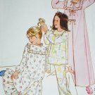 Simplicity 8697 Girl's Robe Nightgown & Pajamas sewing pattern sz 7 & 8