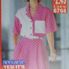 Butterick 6768 See & Sew sewing pattern shirt & wide leg shorts size 6, 8
