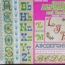 Cross stitch pattern leaflet alphabets & borders Leisure Arts 57