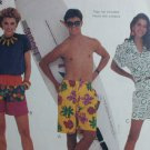 McCall 2981 sewing pattern men teen boys woman's shorts size large