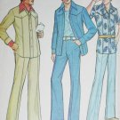 McCall 4458 vintage sewing pattern men's casual retro 1975 jacket & pants chest sz 40