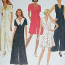 Simplicity 8971 sewing pattern misses jumpsuit flared legs casual sz 6 8