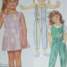 McCall 3099 girls jumpsuit & top sewing pattern - top for stretch knits only size 4 6 8