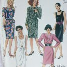 McCall 4903 Misses dress sarong look sewing pattern uncut sz 10 12 14