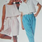 McCall 3596 girls top pants shorts sewing pattern size medium 8 to 10