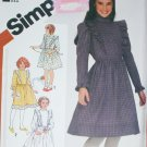 Simplicity 5772 sewing pattern girl size 8 pullover ruffled dress
