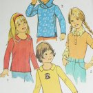 Simplicity 7157 child's pullover hooded top child size 4 vintage 1975 sewing pattern for knits