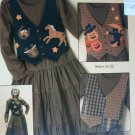Sewing pattern booklet dress & detachable interchangeable vests Halloween Chistmas