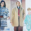 Butterick 3640 sewing pattern misses jacket sizes XS S M uncut fleece loose fitting