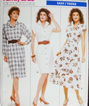 Butterick 6083 sewing pattern dress size 12 14 16 uncut 1988