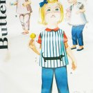 Butterick 2449 toddler smock & pants vintage sewing pattern sz 1/2