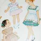 McCall 1418 vintage sewing pattern girl's dress sz 4 B23 contrast collar circa 1950s