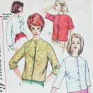 Simplicity 4464 vintage sewing pattern blouse sz 14 B34