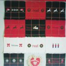 Cross stitch leaflet Christmas fingertip towels 13 designs